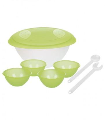 Salátástál szett, zöld - UTOLSÓ 60 DB