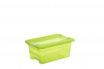 Crystal műanyag tároló doboz 4 l, világoszöld, 29,5x19,5x12,5 cm