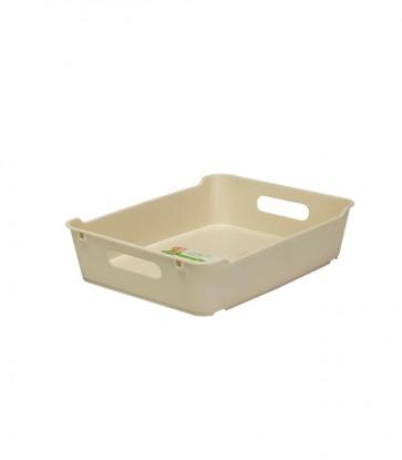 Loft műanyag tároló doboz A5, krémszínű, 28x22x6,5 cm - UTOLSÓ 15 DB