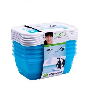 """""""Memory Polar"""" élelmiszer tároló doboz szett, 5x0,5 l"""