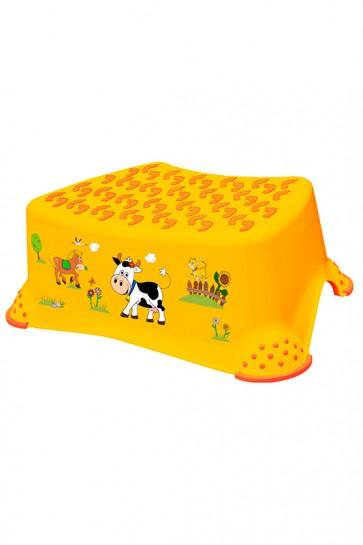 """Gyerek zsámoly, fellépő, narancssárga, """"Funny Farm"""", 40x28x14 cm - UTOLSÓ 11 DB"""