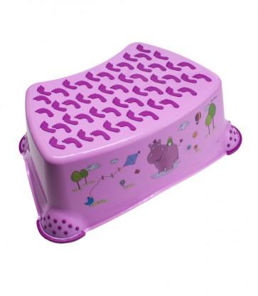 """Gyerek zsámoly, fellépő, rózsaszín, """"Hippo"""", 40x28x14 cm"""