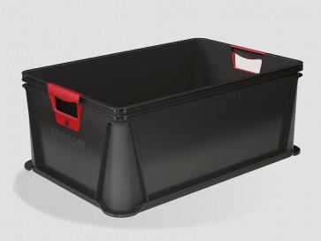 Eurobox műanyag tároló doboz, 45 L, grafit, 59x39x23,5 cm