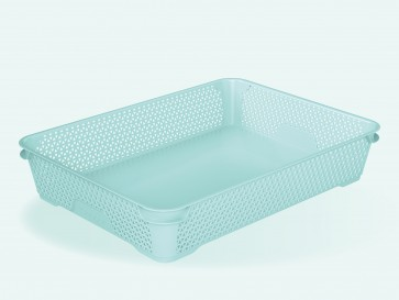 Mirko műanyag kosár, A4, kék, 36x26,5x7 cm