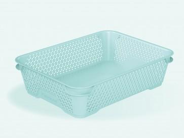 Mirko műanyag kosár, A5, kék, 26,5x20x7 cm