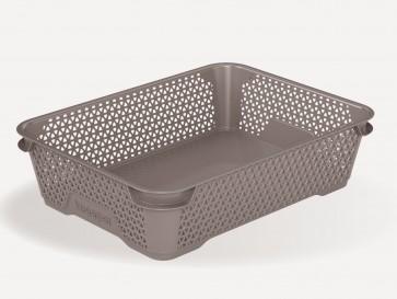 Mirko műanyag kosár, A5, szürke, 26,5x20x7 cm