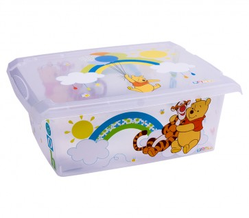 "Fashion műanyag tároló doboz,""MICIMACKÓ"", 39x29x14 cm"