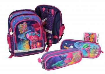"""Školní batoh """"Trollové"""" s Poppy, set 2v1"""