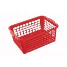 Műanyag kosár, kicsi, piros, 25x17x10 cm