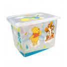 "Fashion műanyag tároló doboz , ""Micimackó"", 39x29x27 cm"