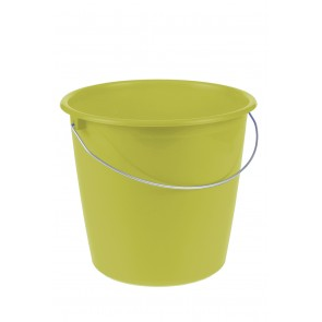 Vödör fém fogantyúval, zöld, 10 L