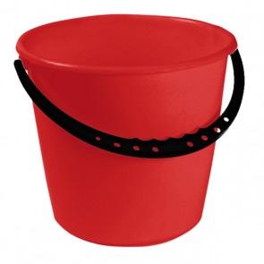 Vödör műanyag fogantyúval, piros, 10 L - UTOLSÓ 3 DB