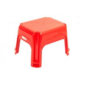 Műanyag sámli, piros, 36,5x30x24 cm - UTOLSÓ 5 DB
