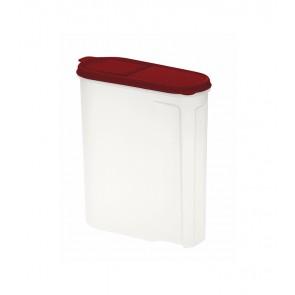 Élelmiszer tároló doboz, piros, 2,6l - UTOLSÓ 12 DB