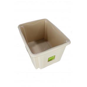 Színes műanyag doboz, 30 l, fedeles krém
