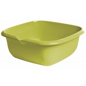 Szögletes tál kiöntővel, zöld, 38x38x15 cm - UTOLSÓ 6 DB