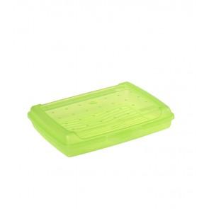 """""""Mini"""" műanyag uzsidoboz, zöld, 17x13x3,5 cm"""