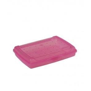 """""""Mini"""" műanyag uzsidoboz, rózsaszín, 17x13x3,5 cm"""