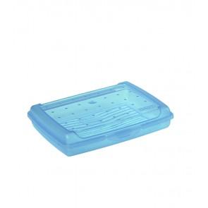 """Mini"" műanyag uzsidoboz, kék, 17x13x3,5 cm"