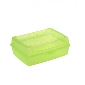 """""""Midi"""" műanyag uzsidoboz, zöld, 17x13x6,5 cm"""