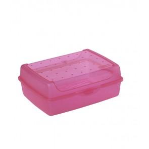 """Midi"" műanyag uzsidoboz, rózsaszín, 17x13x6,5 cm"