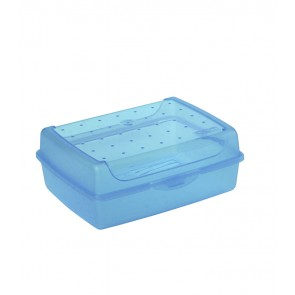 """Midi"" műanyag uzsidoboz, kék, 17x13x6,5 cm"