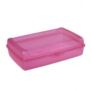 """""""Maxi"""" műanyag uzsidoboz, rózszaszín, 30x20x8,5 cm"""