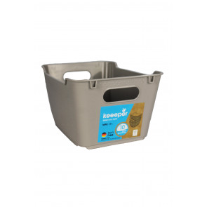 Műanyag doboz LOFT 1,8 l, szürke, 19,5x14x10 cm