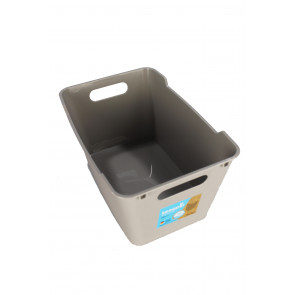 Műanyag doboz LOFT 6 l, szürke, 29,5x19x15 cm,