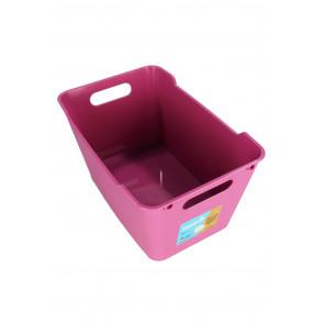 Műanyag doboz LOFT 6 l, rózsaszín, 29,5x19x15 cm