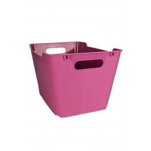 Műanyag doboz LOFT 12 l, rózsaszín, 35,5x23,5x20 cm