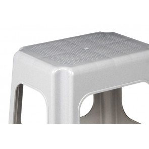 Műanyag maxi sámli, szürke, 41x33,5x42,5 cm