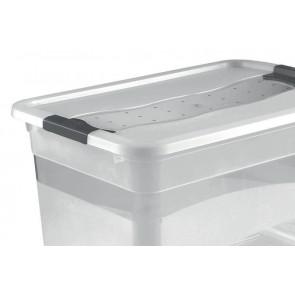Crystal műanyag doboz 52 l, átlátszó, 59,5x39,5x34 cm