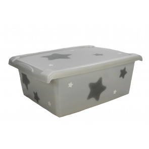 "Fashion műanyag tároló doboz,""Star"", 39x29x14 cm"