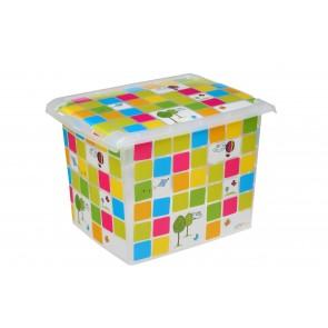 """Fashion műanyag tároló doboz,""""KIDS"""", 39x29x27 cm - UTOLSÓ 6 DB"""