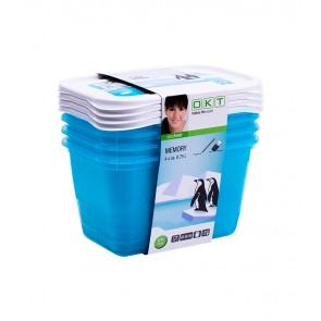 """""""Memory Polar"""" élelmiszer tároló doboz szett, 4x0,75 l"""