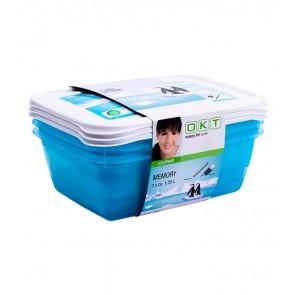 """""""Memory Polar"""" élelmiszer tároló doboz szett, 3x1,25 l"""