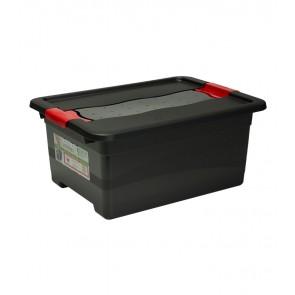 Műanyag doboz Crystal – SOLIDO 12 l, grafit, 39,5x29,5x17,5 cm - UTOLSÓ 2 DB