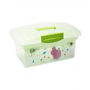 """Utazó doboz, zöld, """"Hippo"""", 40x24x21 cm - UTOLSÓ 2 DB"""