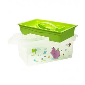 Utazó doboz, zöld,