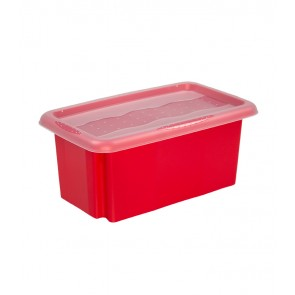 Colours műanyag tároló doboz fedéllel 7L, piros, 35x20,5x15,5 cm