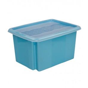 Colours műanyag tároló doboz fedéllel 15L, kék, 38x28,5x21 cm
