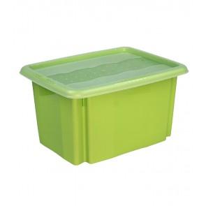 Colours műanyag tároló doboz fedéllel 15L, zöld, 38x28,5x21 cm