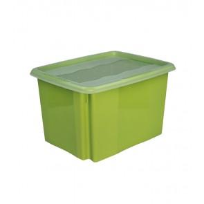 Colours műanyag tároló doboz fedéllel 30L, zöld, 45x35x27 cm