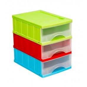 Fiókos tároló A5, többszínű, 25x18x25 cm