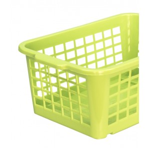 Műanyag kosár, kicsi, zöld, 25x17x10cm