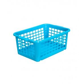 Műanyag kosár, kicsi, kék, 25x17x10cm