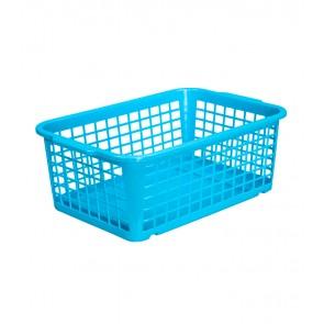 Műanyag kosár, közepes, kék, 30x20x11 cm