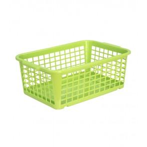 Műanyag kosár, közepes, zöld, 30x20x11 cm
