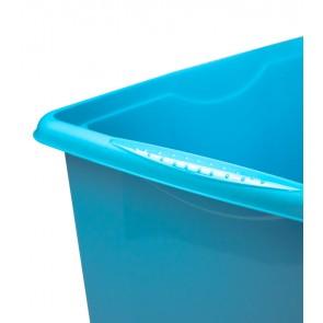Colours műanyag tároló doboz fedéllel, 45L, kék, 55x39,5x29,5 cm
